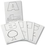 Folia ABC Alphabetkarten, DIN A6, weiß, 24-teilig (1 Set)