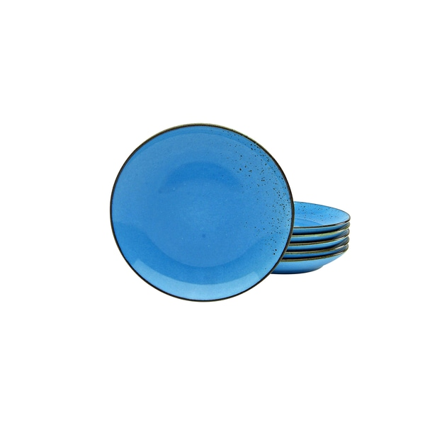 CreaTable 22062 Nature Collection Dessertteller 21 cm, blau (6er Pack)