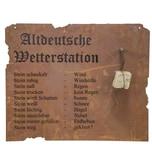 Siena Garden 1-0992 Altdeutsche Wetterstation Edelrost inkl. Stein, hängend 80x70 cm, braun