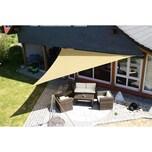 EDUPLAY 160010 Sonnenschutz Sonnensegel, 5x5x5m, Dreieck, beige (1 Stück)