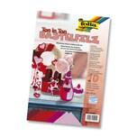Folia Bastelfilz 150 g/m², 20 x 30 cm, Ton in Ton Mix, rot (10 Bogen)