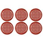 EINKOCHWELT 30442 Twist-off Deckel sterilisationsfest Blumen 82 mm rot/weiß 6er Pack