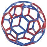 Gowi 170263 Hexball groß Ø 14 cm, rot/blau