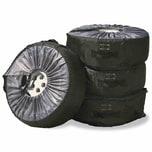Cartrend 501-22 Reifentaschen-Set 4 x Hüllen für Autoreifen, schwarz (1 Set)