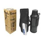 Mindi Isolierflasche mit Reinigungsbürste Mr. Big 4000 ML schwarz 1 Stück