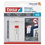 tesa 77777 Powerstrips Klebenagel für Tapeten & Putz verstellbar 2 kg weiß 2er Pack