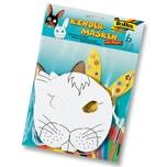 """Folia Kindermaske """"Hase"""" aus Pappe, mit Gummi, weiß (6 Stück)"""
