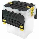 Heidrun Dragon Box 3 x 30 Liter, klar/schwarz (3er Pack)