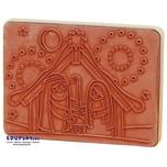 EDUPLAY 320014 Holzstempel Krippe (1 Stück)