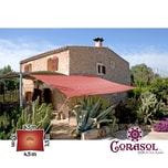 Corasol 160126 Premium Sonnensegel, 3,5 x 4,5 m, Rechteck, wasserabweisend, rot