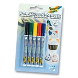 Folia Porzellan Maler Stifte, 1-2mm Strichstärke, mehrfarbig, 5-teilig (1 Set)