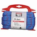 REWWER-TEC 435-967 PP-Seil 6mm 20m gefloch. a.Haspel, blau/rot (20 m)