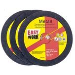 Easy Work 73503 Trennscheiben Inox, 115 x 1 x 22,2 mm, grauschwarz (3er Pack)