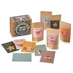 Corasol Winter Tee Box, Geschenkset mit 5 winterlichen Teekreationen inklusive 5 Winter-Design Postkarten, mehrfarbig (255 g im Aromabeutel)