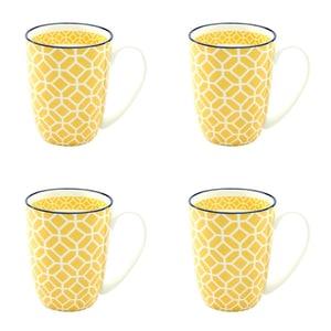 CreaTable 21188 Mediterran Kaffeebecher 300 ml, curry (4er Pack)