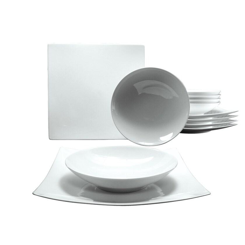 CreaTable 17091 Tafelservice New Elegance für 6 Personen 12-teilig