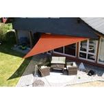 EDUPLAY 160030 Sonnenschutz Sonnensegel, 5x5x5m, Dreieck, rost (1 Stück)