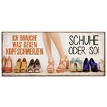 la vida 390711 Schuhe Schild mit Motiv Metall 305 x 13 cm mehrfarbig 1 Stück