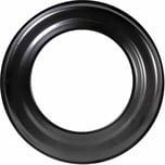 FIREFIX R150/R Ofenrohr Rosette, Ø 150 mm, schwarz (1 Stück)