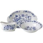 CreaTable 11652 Serviergeschirr Ivona, Zwiebelmuster, Porzellan, blau/weiß (1 Set, 3-teilig)