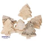 EDUPLAY 310277 Naturholzscheiben Tanne, chinesische Birke, 5 x 6 x 1 cm, natur, 6-teilig (1 Set)