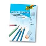 folia 8000/25 Transparentpapier 80g/m², Architektenpapier, A4 Block, transparent (25 Bogen)