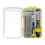 Easy Work B21065 Schraubendrehersatz R+L-Lauf mit Bits & Einstecknüsse, schwarz/gelb/silber, 65-teilig (1 Set)