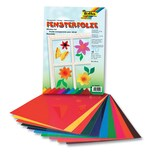 Folia Fensterfolie, 23x33cm, selbsthaftend, 10 Farben, mehrfarbig (20 Bogen)