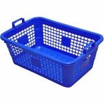 Lockweiler 103-905026 Wäschekorb, eckig, Kunststoff, 50 x 35 x 20 cm, 26 Liter, blau