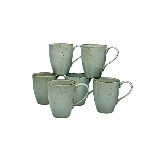 CreaTable 22048 Nature Collection Kaffeebecher 300 ml, stone (6er Pack)
