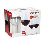 Alpina 86429 Rotweinkelch 530 ml Glas klar 6er Pack