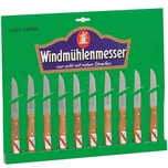 Windmühlenmesser Gemüsemesserset mit gerader Klinge 85mm 10er-Pack