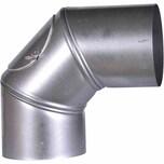 FIREFIX A120/BU Ofenrohrbog.90° FALØ120mm drehbar mit Tür, grausilber