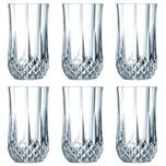 Cristal d'Arques 23226 Longchamp ECLAT Longdrinkbecher 360 ml Glas klar 6er Pack