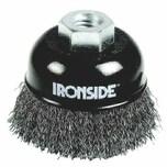 Ironside 243-010/613164 Topfbürste100mm M14 0,3mm gewellt, für Winkelschleifer, schwarz/grau