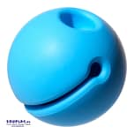 MOLUK 120635 Ball mit großem Mund Mox, Ø 5 cm, blau, 3-teilig (1 Set)