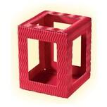 folia 9790/5 Mini Laternenrohlinge aus 3D-Wellpappe, 10x10x12 cm, schwarz (5er Pack)
