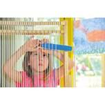 Betzold 210-200 Riesen-Webrahmen, aus Holz, inklusive 4 Wollbündel, mehrfarbig (1 Set)