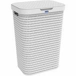 Rotho 103-2701100 COUNTRY Wäschesammler 55 Liter, 42 x 32 x 57,2 cm, weiß