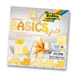 Faltblätter 80 g/m², Basics, gelb, 15 x 15 cm, 50 Blatt, 5 Motive