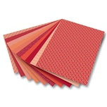 "Folia Motivkarton ""Basics"", 270 g/m², 50 x 70 cm, 10 Motive, rot (10er Pack)"