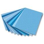 Folia 46409 Motivkarton Basics 270 g/m², 50 x 70 cm, 10 Motive, blau, 10-teilig (1 Set)