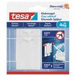 tesa 77766 Powerstrips Klebenagel für Fliesen & Metall, 4 kg, weiß (2er Pack)