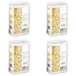 Mepal 106911030600 Modula Vorratsdose, Kunststoff, 2000 ml, transparent/weiß (4 Stück)