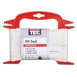 REWWER-TEC 435-937 PP-Seil 2,5mm 20m geflo. a.Haspel, weiß (20 m)