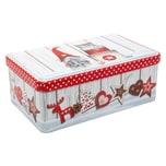 Gebäckdose Wichtel Weihnachten 18x11x7cm