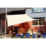 EDUPLAY 160057 Sonnenschutz Sonnensegel, 3,6x3,6m, Quadrat, wasserabweisend, cremeweiß (1 Stück)