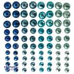 EDUPLAY 360044 Selbstklebende Schmucksteine, blau, 80-teilig (1 Set)