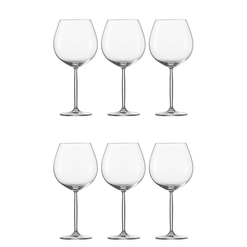 Schott Zwiesel 104103 Diva Rotweinglas, Burgunderpokal, 840ml, H 24,8cm, klar (6er Pack)