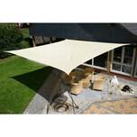 EDUPLAY 160058 Sonnenschutz Sonnensegel, 5x5m, Quadrat, wasserabweisend, cremeweiß (1 Stück)